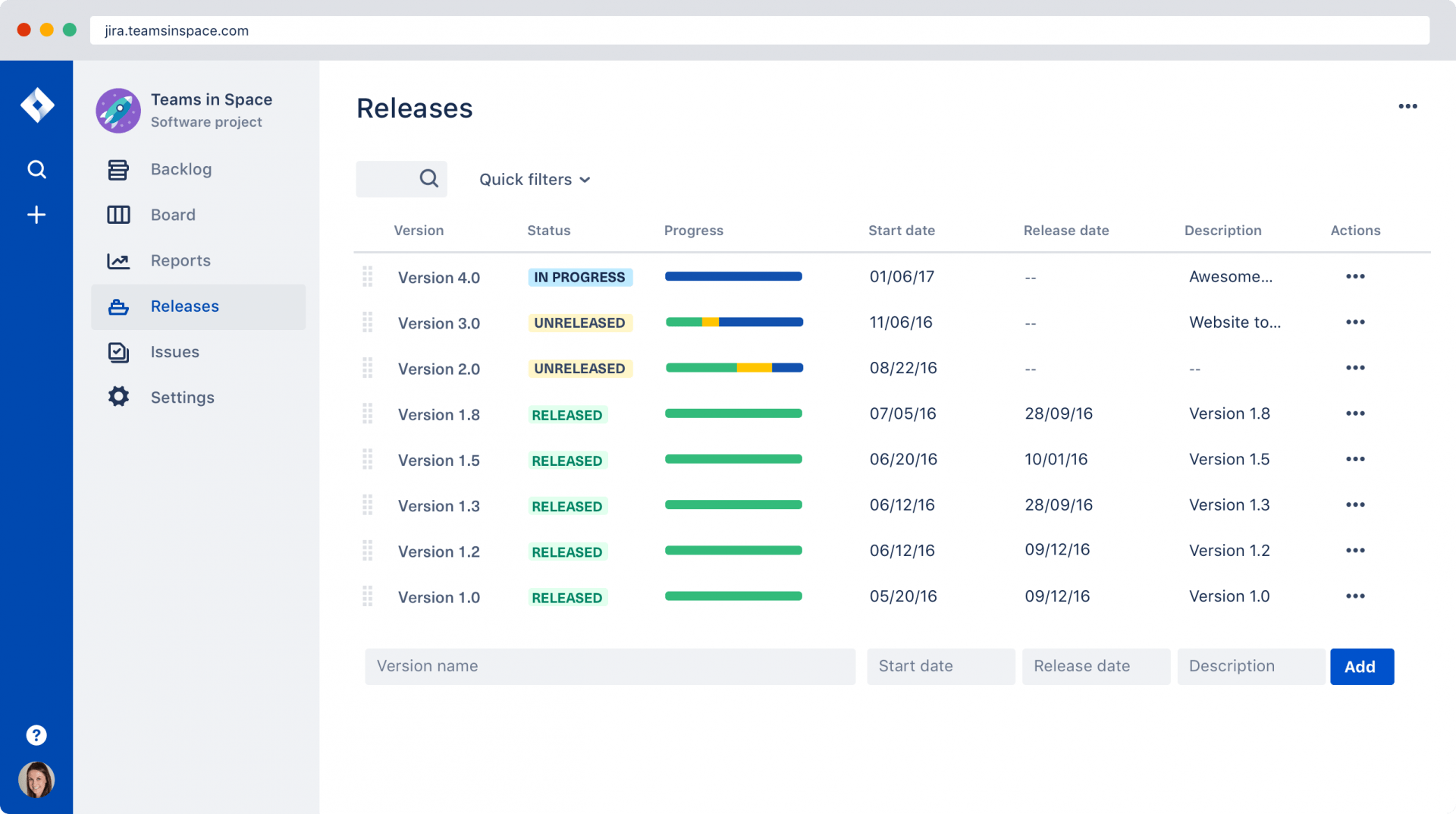 jira software plan track